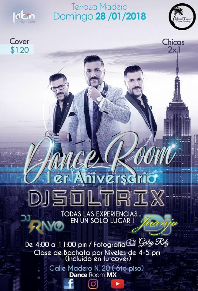 Compra Boletos Para Dance Room Aniversario Dj Soltrix